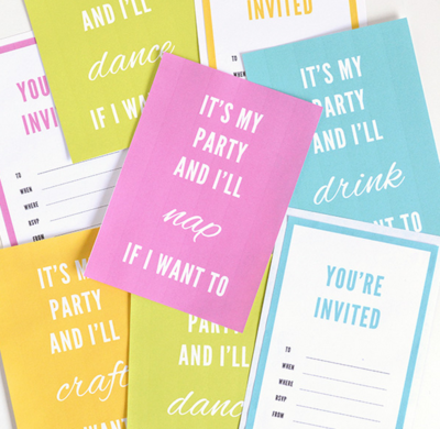 Its My Party Free Printable Invitations