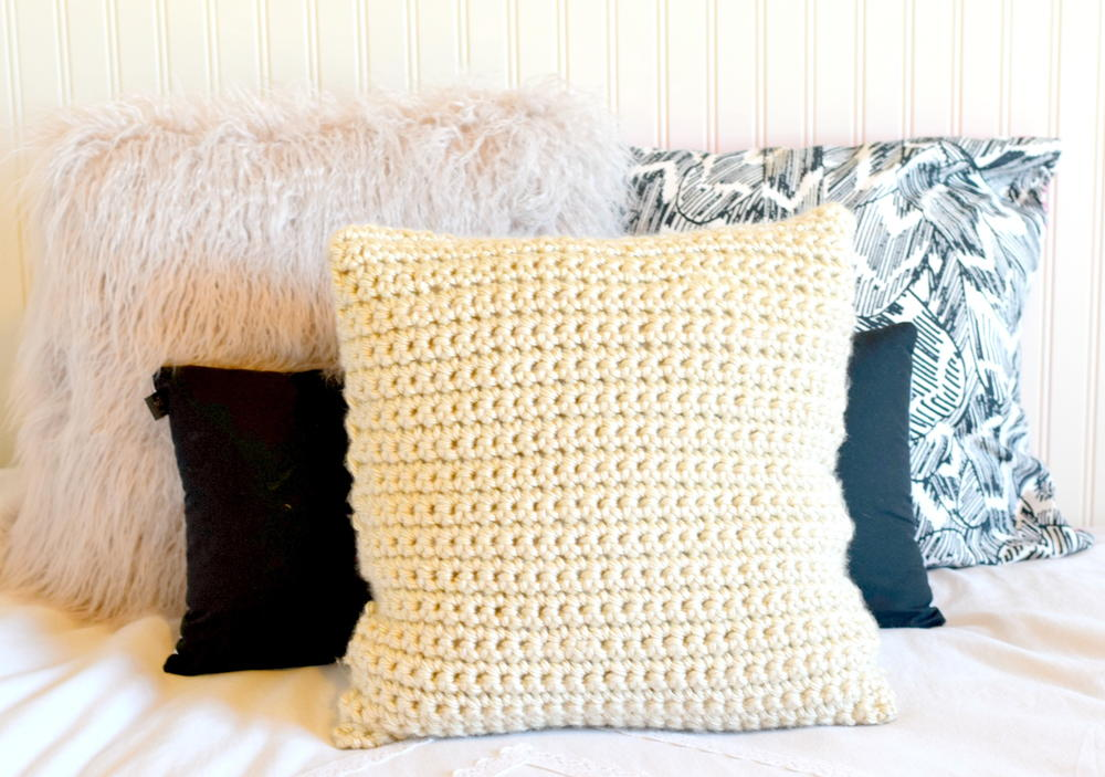 Super Chunky Crochet Pillow Allfreecrochet Com