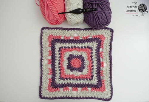 Rising Sun 12 Inch Afghan Square