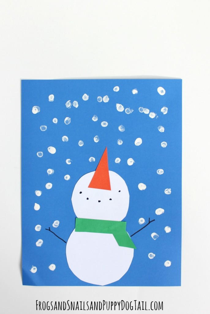winter toddler crafts paper snowman winter craft allfreekidscrafts 3238