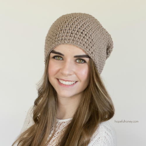 Toasted Wheat Slouchy Beanie