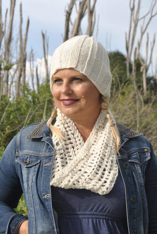 Be So Brave Basketweave Cowl