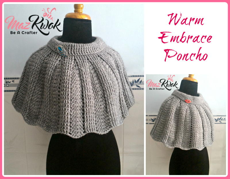 Warm Embrace Poncho AllFreeCrochet.com