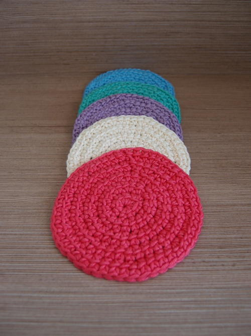 Linked Double Crochet Coasters