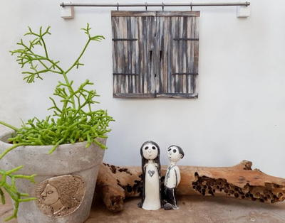 Make Your own Miniature Barn Doors to Hide Wall Plugs