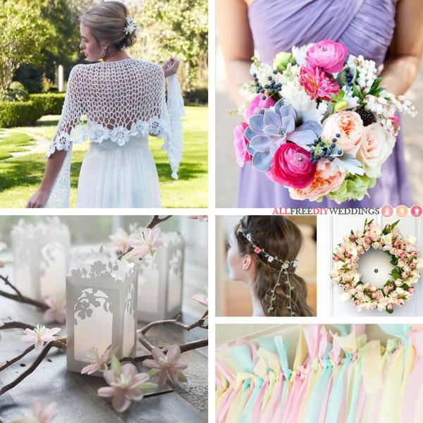 35 Pastel Wedding Crafts For Your DIY Spring Wedding