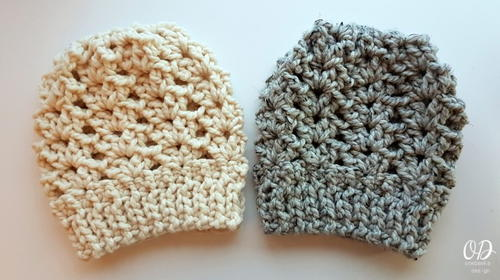 Ponytail or kNOT Crochet Hat
