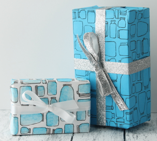 Mason Jar Printable Wrapping Paper