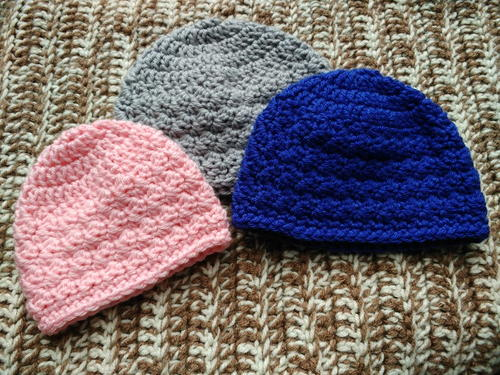 Slanted Shell Baby Beanies