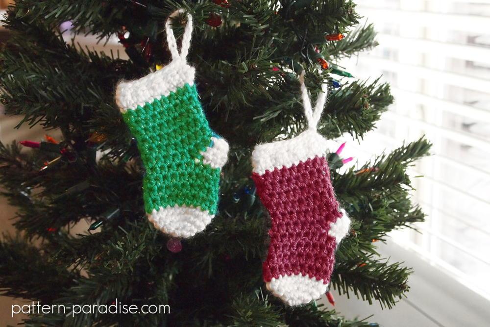 Mini Stocking Ornaments Allfreecrochet Com