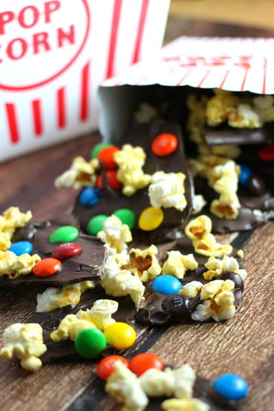 Sweet & Salty Movie Popcorn Chocolate Bark