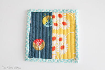 Simple Quilted Coaster Tutorial: Quilting 101