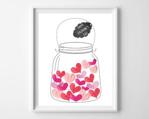 Jar of Hearts Printable Art