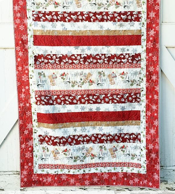 Winter Celebration Strip Quilt Pattern Favequilts Com