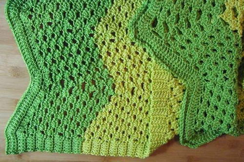 Turtle Shell Ripple Afghan
