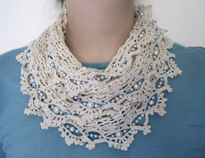 Thread and Beads Infinity Scarf