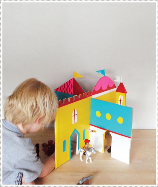 Duct Tape Diy Cardboard Castle Allfreekidscrafts Com