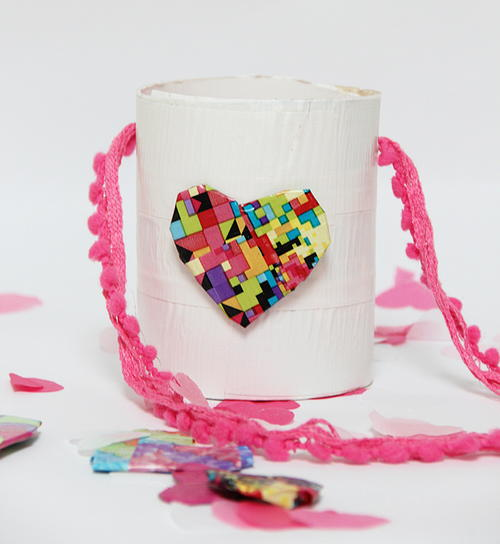 Valentine Duct Tape DIY Basket