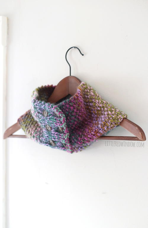 Buttoned Up Knit Cowl