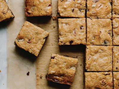 Browned-Butter Date Blondies