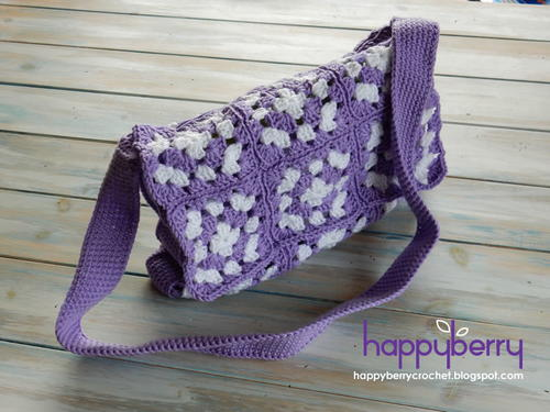 Stylish Crochet Granny Square Bag