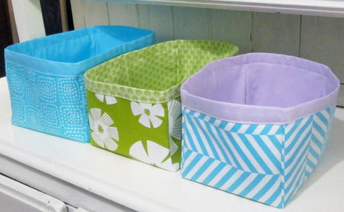 Nesting Fabric Storage Boxes