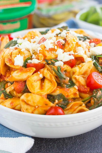 Cold-Fighting Spinach Tortellini