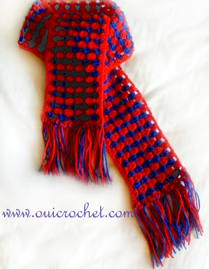 Colorful Granny Stripes Scarf