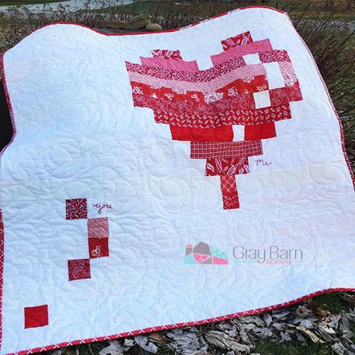 E Heart Quilt Pattern Favequilts Com