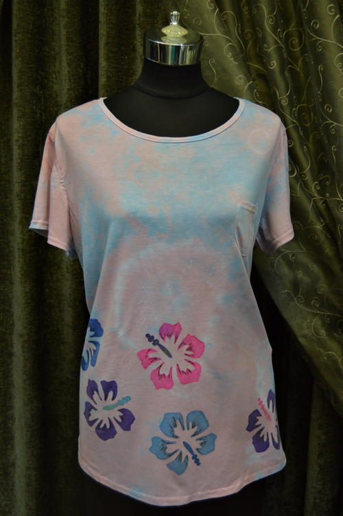Hibiscus pastel diy tie dye shirt for How to make tie dye shirts at home