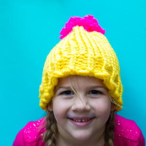 Bright and Colorful Loom Knit Hat