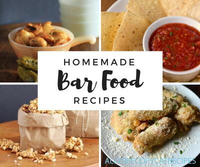 16 homemade bar food recipes for Food bar game
