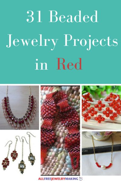 Beautiful Beading Patterns 30 DIY Jewelry Projects in Red