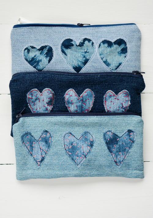 Denim Heart Pencil Cases_1
