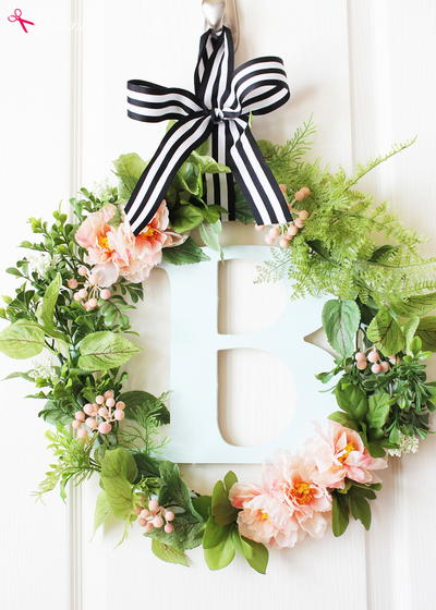 Stylish Botanical DIY Spring Wreath