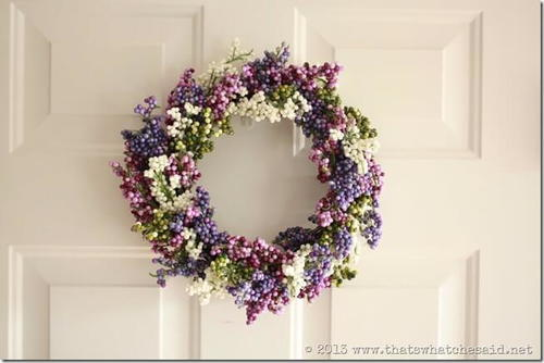 Simple Berry DIY Spring Wreath
