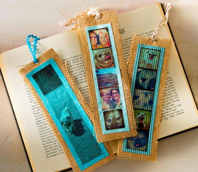 Photographic Memories Burlap Diy Bookmarks Allfreeholidaycrafts Com