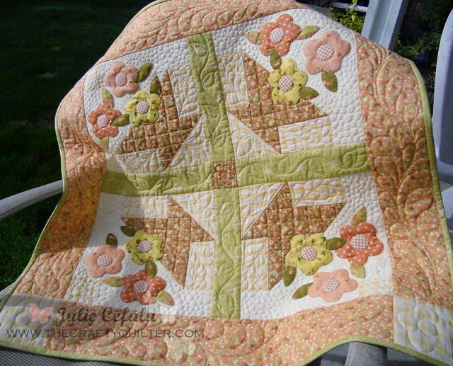 Prairie Flower Basket Wallhanging Favequilts Com