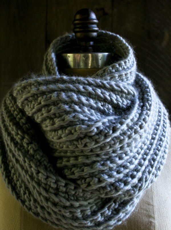 Sophisticated Crochet Rib Stitch Cowl AllFreeCrochetcom