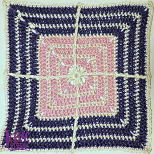 Crossed Afghan Square