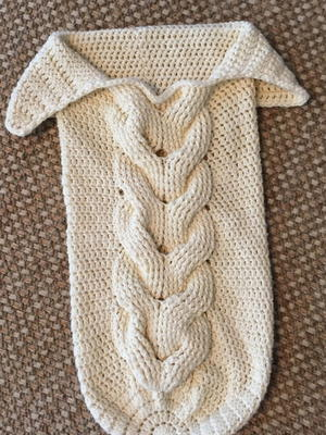 Cuddly Crochet Cable Baby Cocoon