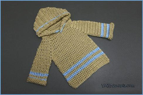 Infant Crochet Pullover Hoodie