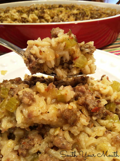 Paula Deen-Style Sausage and Rice Casserole