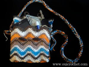 Southwestern Chevron Hip Purse