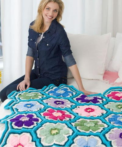 Springtime Posies Throw