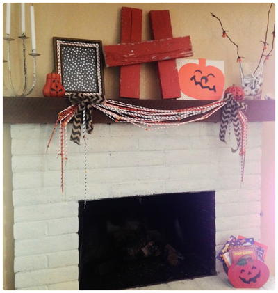 Halloween Garland from Paper Straws