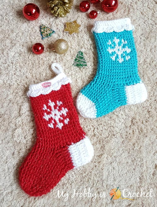 Snowflake Christmas Stocking or Slipper Boots