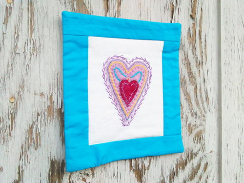 Turn Your Embroidery Project into a Quilted Wall Hanging