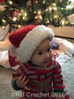 Infant/Toddler Santa Hat