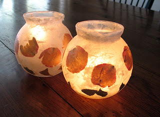 Rose Petal DIY Votive Candle Holders